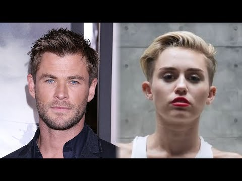 "Chris Hemsworth Hilariously LIP SYNCS To Miley Cyrus' ""Wrecking Ball"""