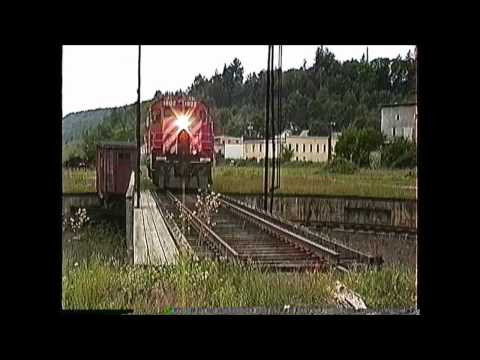 RS18 - CP Rail St. Johnsbury VT local with MLW RS18 #1802 for power and a caboose (van)! 09/09/1993. Video by the late Richard 'Moose' Ouellette. If you like our st...