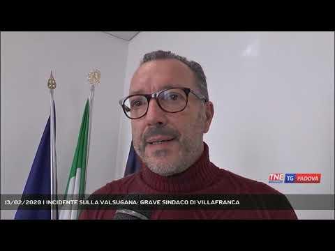 13/02/2020 | INCIDENTE SULLA VALSUGANA: GRAVE SINDACO DI VILLAFRANCA