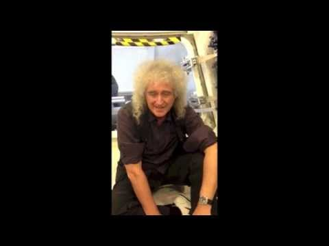 Brian May Of Queen hanging out at NASA!