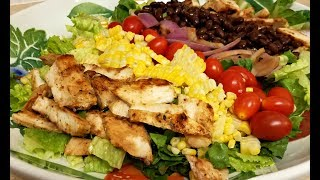 Here is tasty fresh salad recipe perfect for the summer. You can add any salad toppings you like and make it a fresh healthy meal. I also use an avocado cilantro ranch dressing that goes perfect with this salad. It makes a great big salad for two or 4 individual servingsINGREDIENTS2 precooked chicken breasts2 romaine hearts chopped19 oz can of black beans (drained and rinsed)2 ears of corn (or one can of sweet corn)grape tomatoes (or chopped tomato of your choice)red onion (optional)2 avocados (sliced or chopped) **I used my avocado in the salad dressingCREAMY AVOCADO CILANTRO RANCH DRESSINGhttps://youtu.be/SmYxREj6TTEEasy Microwave CornFOOD WISHES VIDEO LINKhttps://youtu.be/e8vWhX1zXKMMUSICherry Blossom - Wonders by Kevin MacLeod is licensed under a Creative Commons Attribution license (https://creativecommons.org/licenses/by/4.0/)Source: http://incompetech.com/music/royalty-free/index.html?isrc=USUAN1100382Artist: http://incompetech.com/http://www.bensound.com/royalty-free-musicJazzfrenchy funnysong How to make a Southwestern SaladSummer RecipesGrilled Chicken Salad RecipeHow to Cook corn in the microwaveChopped Salad RecipeSalad For Two
