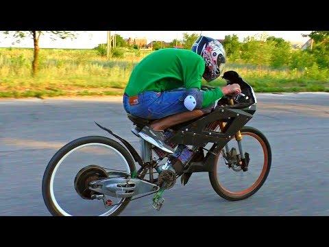 Как я забацал сверх-мощный электро-велосипед на 100 км/ч и чуть не влетел!
