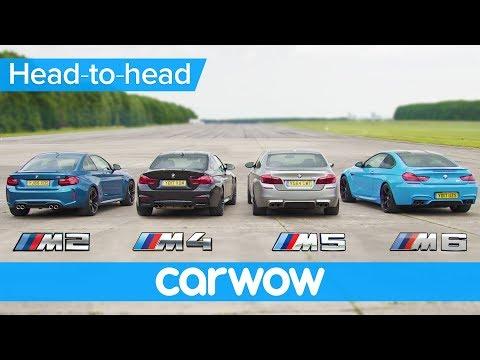 BMW M5 v M4 v M2 v M6 - DRAG & ROLLING RACE