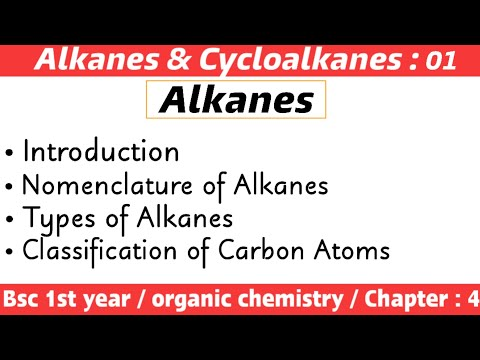 Alkanes and cycloalkanes | Bsc 1st year chemistry | Lecture : 01 | By Chemboost |