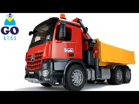 Wheels On The Bus - Toy Dump Truck - Nursery Rhyme Trucks - GoKids