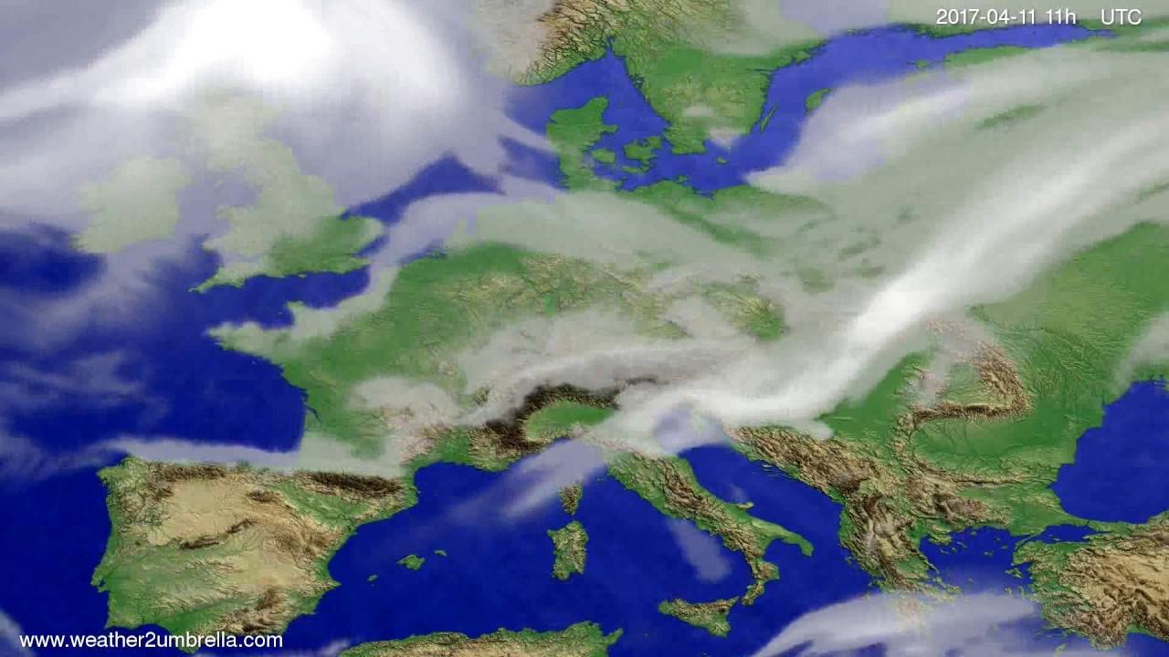 Cloud forecast Europe 2017-04-08