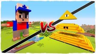 Casa de DIPPER PINES vs casa de BILL CIPHER en Minecraft! TinenQa y yo competiremos por construir la mejor casa de...