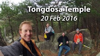 Me, Mara, Chris and Keir went to check out Tongdosa temple on Saturday 20 Feb 2016.