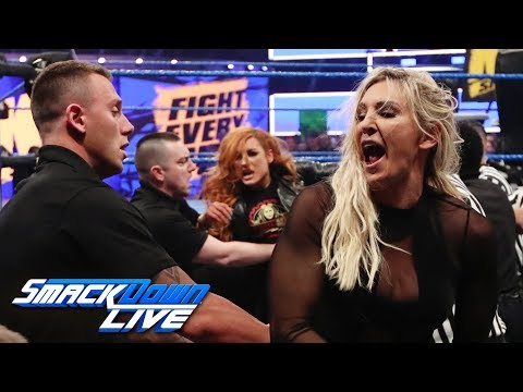 """Becky Lynch and Charlotte Flair brawl on """"The Kevin Owens Show"""": SmackDown LIVE, March 19, 2019"""