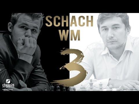 Schach WM 2016: Carlsen - Karjakin Partie 3 Schach  ...