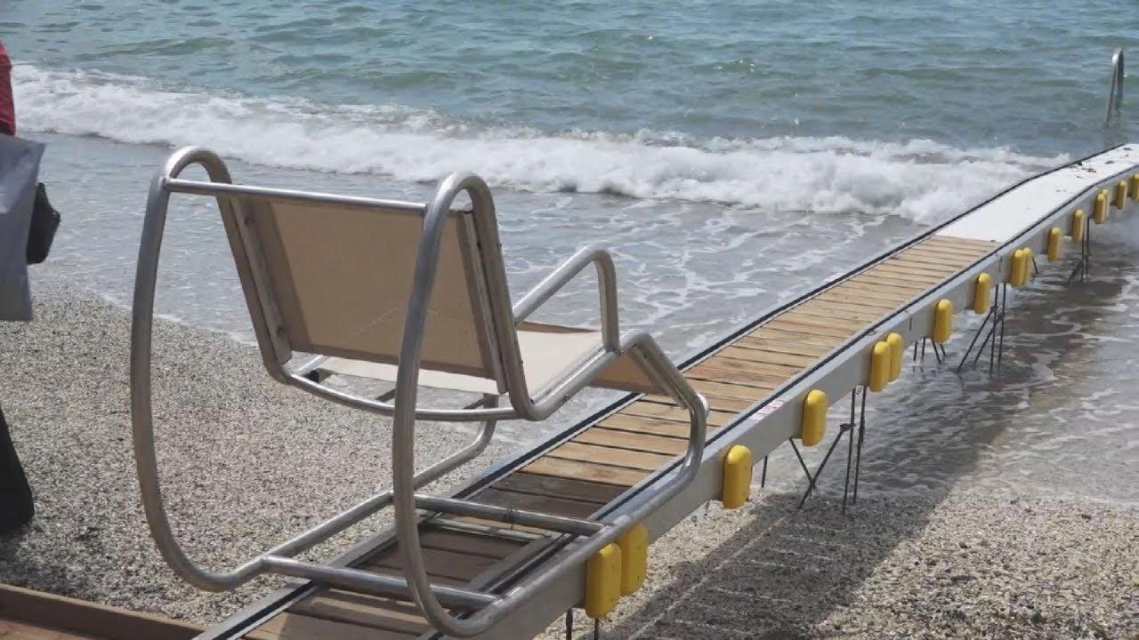 Εγκαίνια έργου για την αυτόνομη πρόσβαση ΑμεΑ στη θάλασσα