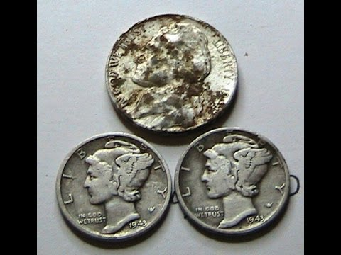 Silver War Nickle Nice Old Coin Spill Silver #16 #17 #18.wmv