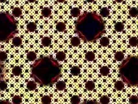 Modified Sierpinski Carpet : IFS fractal zoom from 1 to 1e12