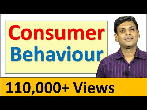 Consumer Behaviour – Marketing Management Video Lecture by Prof. Vijay Prakash Anand