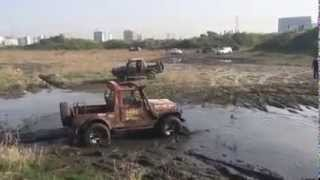 Topless Mahindra THAR - Playing in Mud OffRoad 4X4