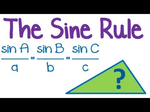 how to use the law of sines