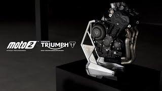 Il motore tricilindrico Triumph per Moto2