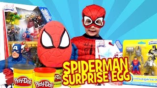 Video SpiderMan Play-doh Surprise Egg with Spiderman Toys Avengers Toys & Justice League Toys MP3, 3GP, MP4, WEBM, AVI, FLV Maret 2018