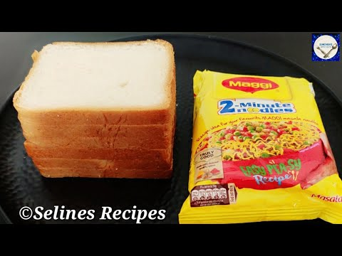 5 Minutes Evening Snacks Recipe | Crispy &Tasty Bread Snacks|Maggi Puff Recipe|Maggi Recipe |