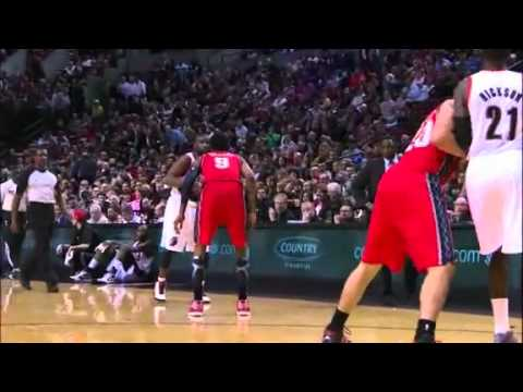 Felton to Hickson Alley Oop dunk against Nets