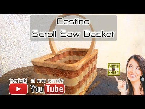 🏮 Fare un Cestino di Legno di ulivo con il traforo elettrico Make ScrollSaw Wave Basket Steve Good