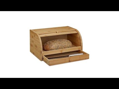 Brotkasten mit Schublade aus Bambus
