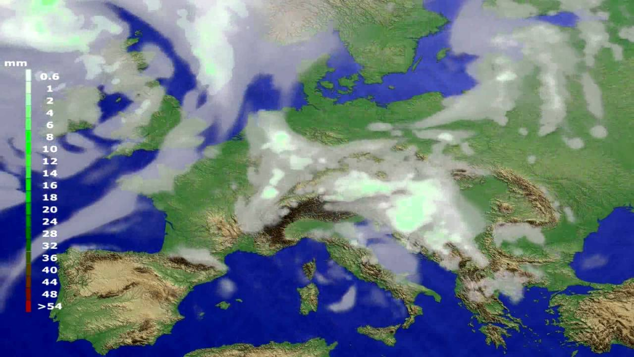 Precipitation forecast Europe 2016-07-21