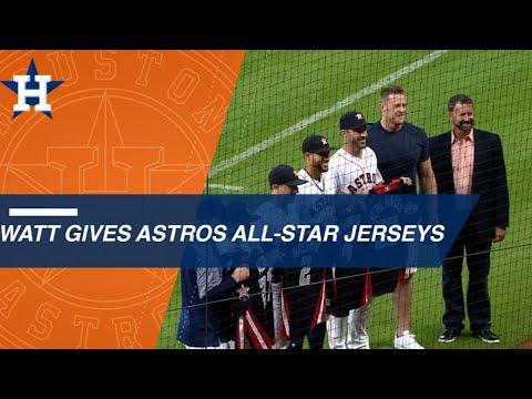 JJ Watt gives the Astros All-Stars their jerseys