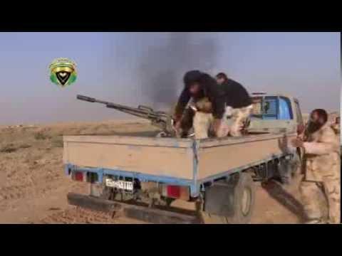 Siria - Un Francotirador Casi le Revienta la Cabeza al Terrorista del Anti-Aereo - Septiembre 2013