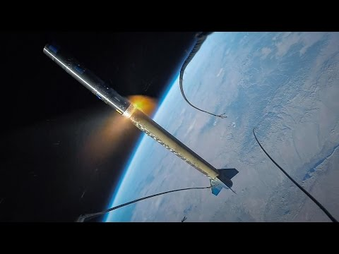 INCREDIBLE FOOTAGE: GoPro on a Rocket Launch to Space