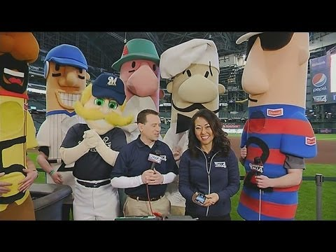 Bernie Brewer, Racing Sausages join Live at Daybreak