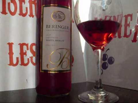 White Merlot Tasting Rating Review Blush Rose Wine 2008 California Beringer