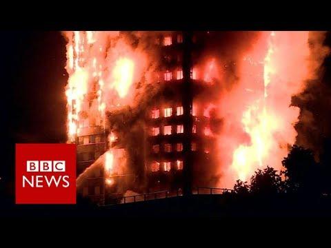 London fire: Huge blaze breaks out in west London flats - BBC News