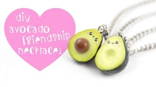 DIY Avocado Friendship Necklace/charms ! | Kawaii Friday - YouTube