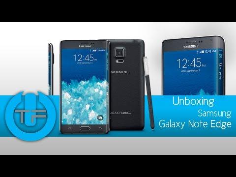 samsung - Link del producto: http://goo.gl/a5gyKa Aquí les tenemos el desenpaquetado del nuevo Samsung Galaxy Note 4 Edge, el primer celular en llegar al mercado con una pantalla curva, sus especificacione ...