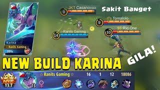 Video New Build Karina Yang Ini Sakit Banget & Kuat Darah Untuk Lawan 1 vs 5 - Mobile Legends Gameplay MP3, 3GP, MP4, WEBM, AVI, FLV Februari 2018