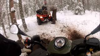 2. Can am outlander 400 vs Polaris sportsman 500
