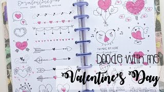 Doodle with me: Valentine's Day - BuJo Doodles | Nicole's Journal