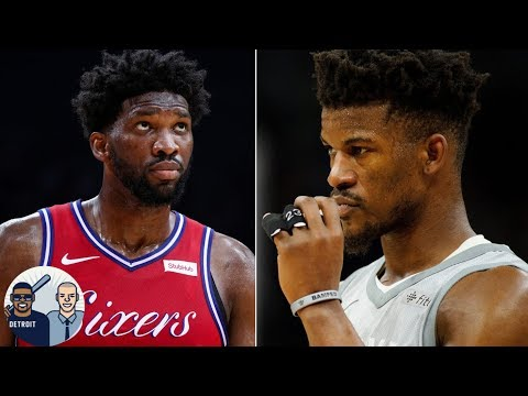 Video: Joel Embiid will go after Jimmy Butler if there's trouble - Frank Isola | Around the Horn