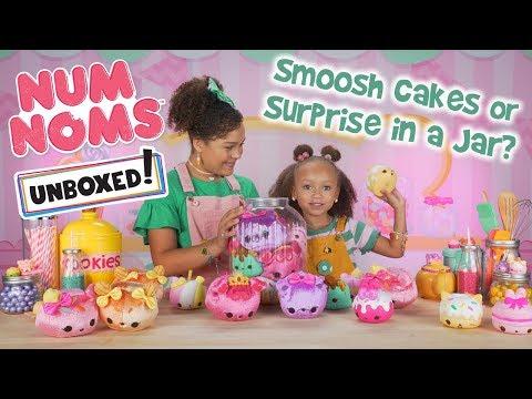 UNBOXED!   Num Noms   Season 3 Episode 6: Smooshcakes or Surprise in a Jar?