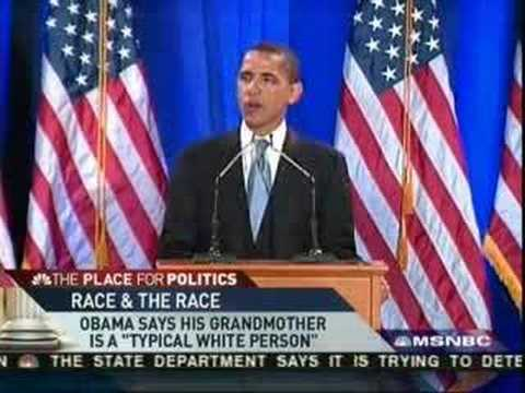 Barack Obama throws White Grandmother under the campaign bus