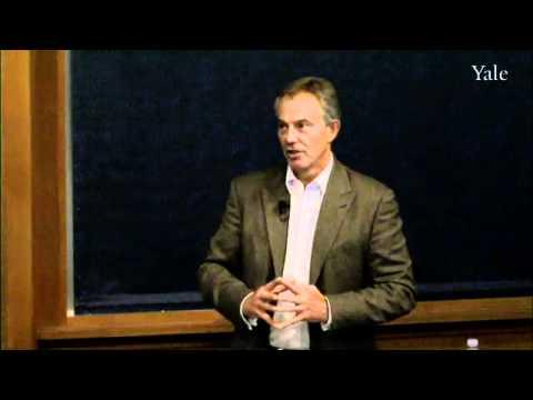 Tony Blair auf den Promises & Gefahren der Globalisierung