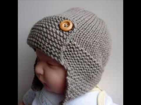 Baby Aviator Hat Regan – Knit Baby Hats Pattern Presentation
