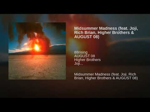 Video Midsummer Madness (feat. Joji, Rich Brian, Higher Brothers & AUGUST 08) download in MP3, 3GP, MP4, WEBM, AVI, FLV January 2017
