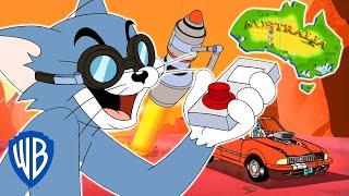 Tom & Jerry | Tom Cuts Australia in Half!? | WB Kids