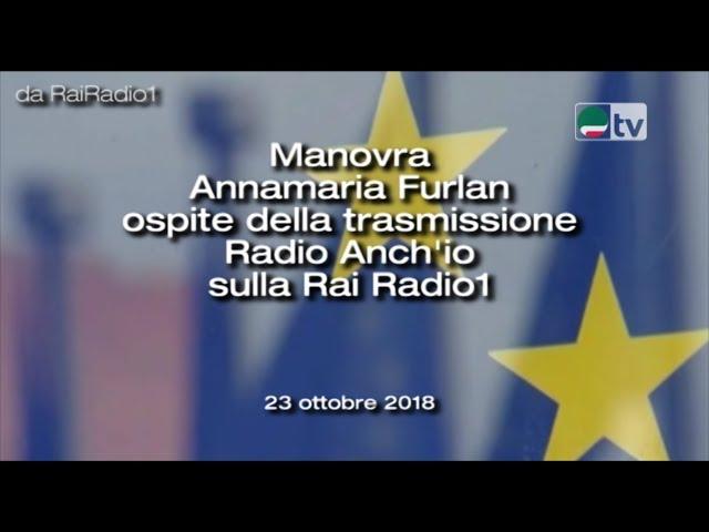 Manovra Annamaria Furlan ospite della trasmissione Radio Anch'io sulla Rai Radio1