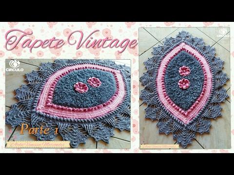 Tapete Vintage em Crochê . Parte 1 Por Vanessa Marcondes .