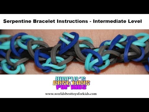 Rainbow Loom Rubber Bands Refill – Serpentine Bracelet Instructions