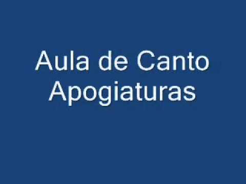 Aula de Canto 2/5 Apogiaturas