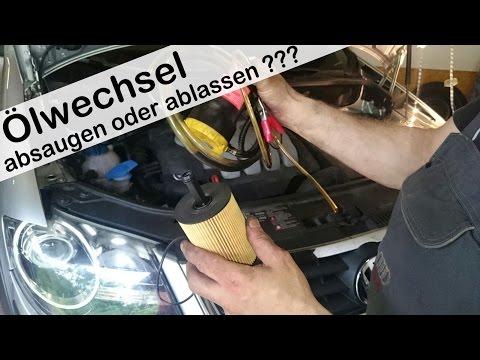 Öl Absaugen oder Öl ablassen Ölwechsel im Vergleich ÖL selber wechseln ohne Kleckern 1.9 TDI
